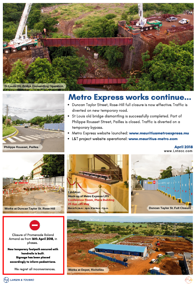 L & T :: | METRO EXPRESS PROJECT, MAURITIUS